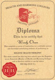 diploma holistic health